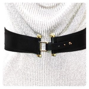 """THE LIMITED tapered 3"""" belt black new with out tag"""